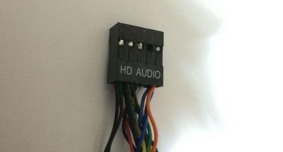 HD AUDIOケーブルの表記部分