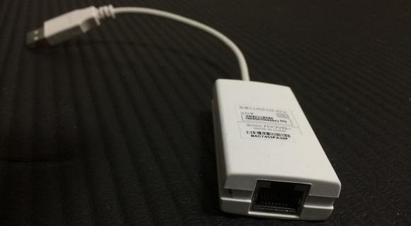 USBのLANアダプタ
